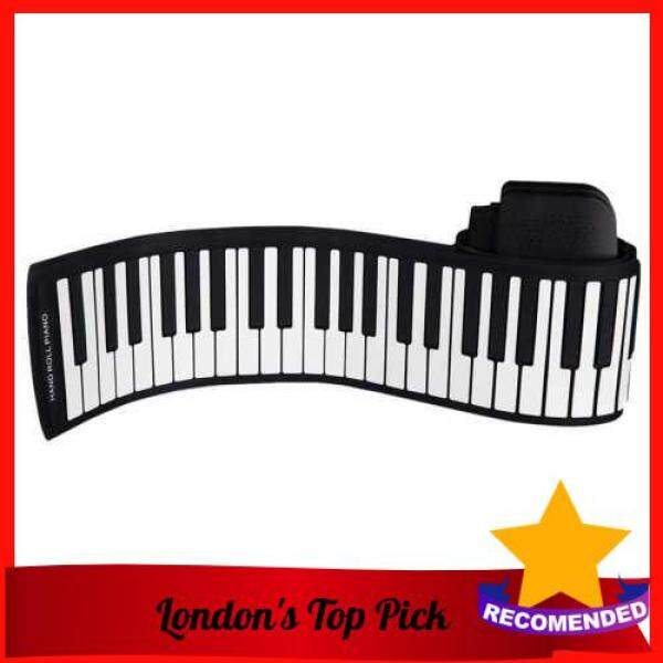 [ London ] Portable 88 Keys Silicone Flexible Roll Up Piano Foldable Keyboard Hand-rolling Piano with Battery Sustain Pedal (Standard) Malaysia