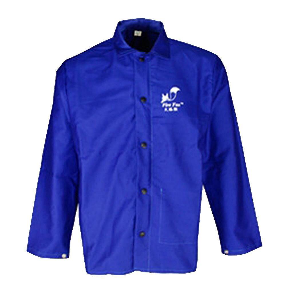 Blesiya Protective Welding Coat Welding Jacket Welding Apparel Flame Resistant