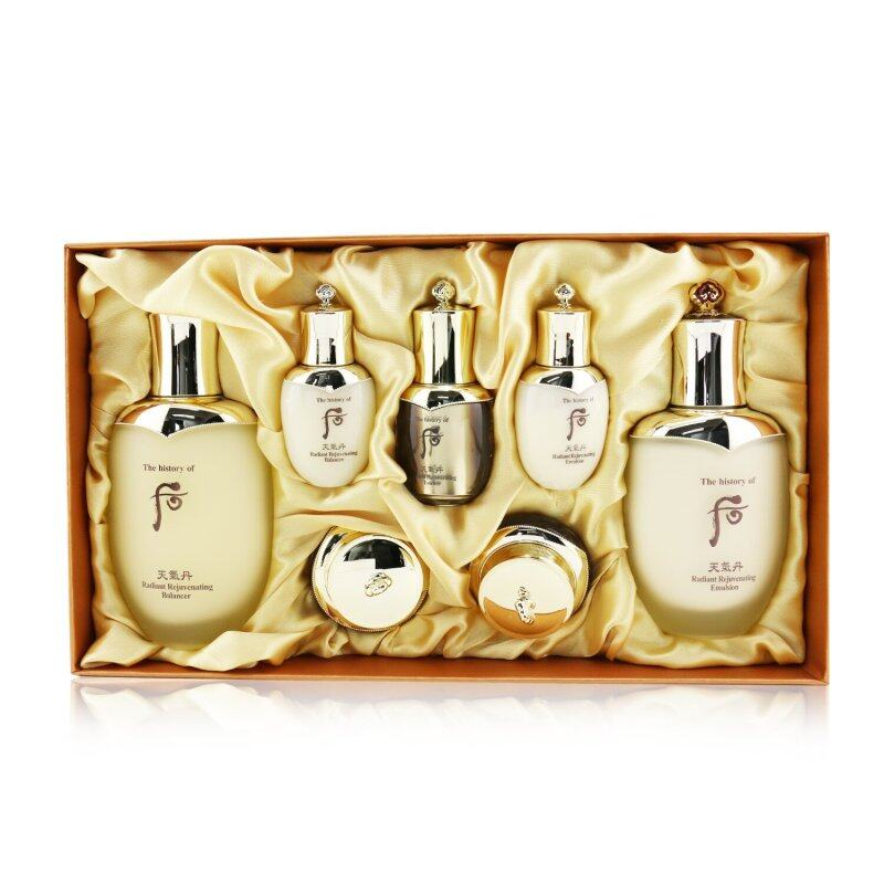 Buy WHOO (THE HISTORY OF WHOO) - Cheongidan Radiant Special Set: Balancer (150ml + 25ml), Emulsion (110ml + 25ml), Essence 8ml. Cream 10ml, Eye Cream 5ml 7pcs Singapore