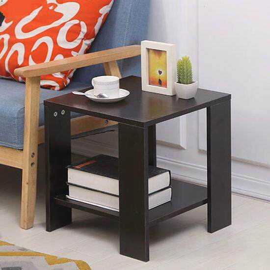 Simple Double Layer Square Coffee Table Modern Bedside Table Mini Sofa Side Table By Shopimo.