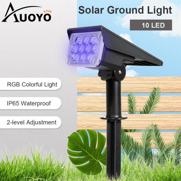 Auoyo Đèn LED Đèn Sân Vườn Năng Lượng Mặt Trời Đèn Cắm Đất Năng Lượng Mặt Trời Trang Trí Tự Động Bật/Tắt Vào Ban Đêm Cho Sân Vườn Cảnh Quan Ngoài Trời Hàng Rào Chuẩn Chống Nước IP65 20 LED Outdoor Solar Lights Auto Light Garden