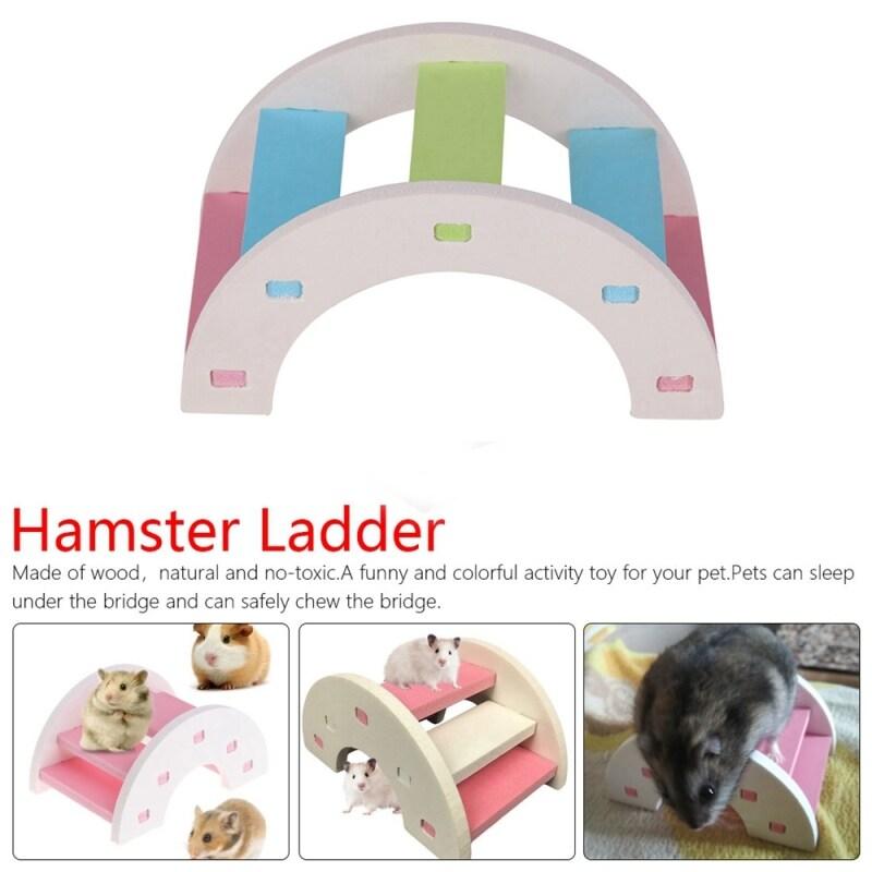 Hài Hước Lồng Chuột Linh Hoạt Phụ Kiện Sóc Đồ Chơi Gặm Cây Cầu Gỗ Đồ Chơi Cho Chuột Hamster Thang THANG LEO