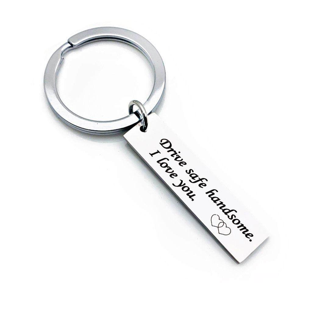 Personalized Keychain Gift Boyfriend Lorry Driver Present Passing Driving Test Drive safe keyring travelling gift New Driver Keychain