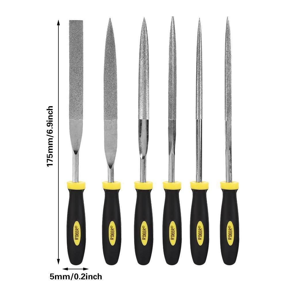 【Lowest price across Internet】6pcs Mini Files Set Metal Filing Wood Tool Hand Woodworking Rasp Needle File
