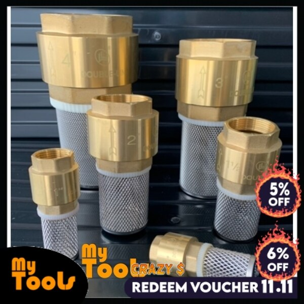 Mytools 4 3 2 1-1/2 1 3/4 100mm 80mm 50mm 40mm 25mm 20mm Fully Copper Foot Valve Strainer Heavy Duty