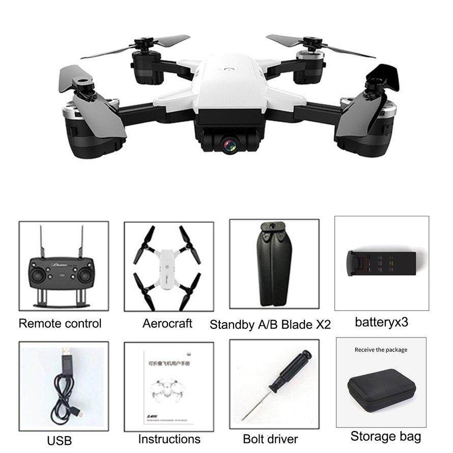 OSMAN Jd-20 Drone With Wifi Hd Camera Remote Control Aircraft Four-Axis With Bag with 3 batteries