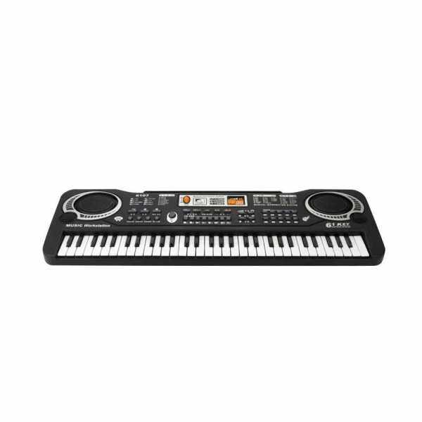 61 Keys Electronic Organ USB Digital Keyboard Piano Musical Instrument Kids Toy with Microphone (Black) Malaysia