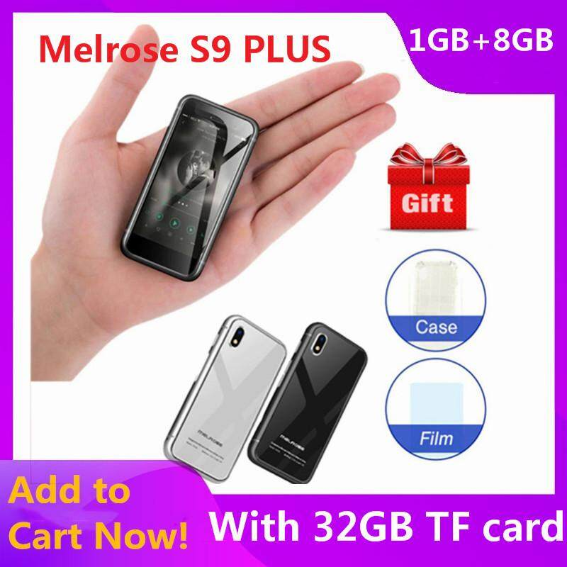 Original Melrose S9 Plus card phone with 32G TF card 4G Mini Smartphone 2.45 inch Android 7.0 MTK6737 Quad Core 1.5GHz 1GB RAM 8GB ROM 5.0MP Rear Camera 1580mAh Built-in