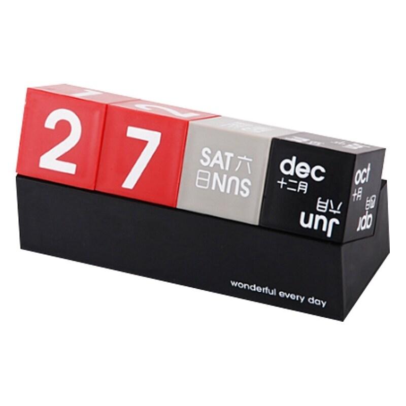 DIY Square Perpetual Calendar Calendar Desktop Calendar Creative Perpetual Calendar Desktop Decoration