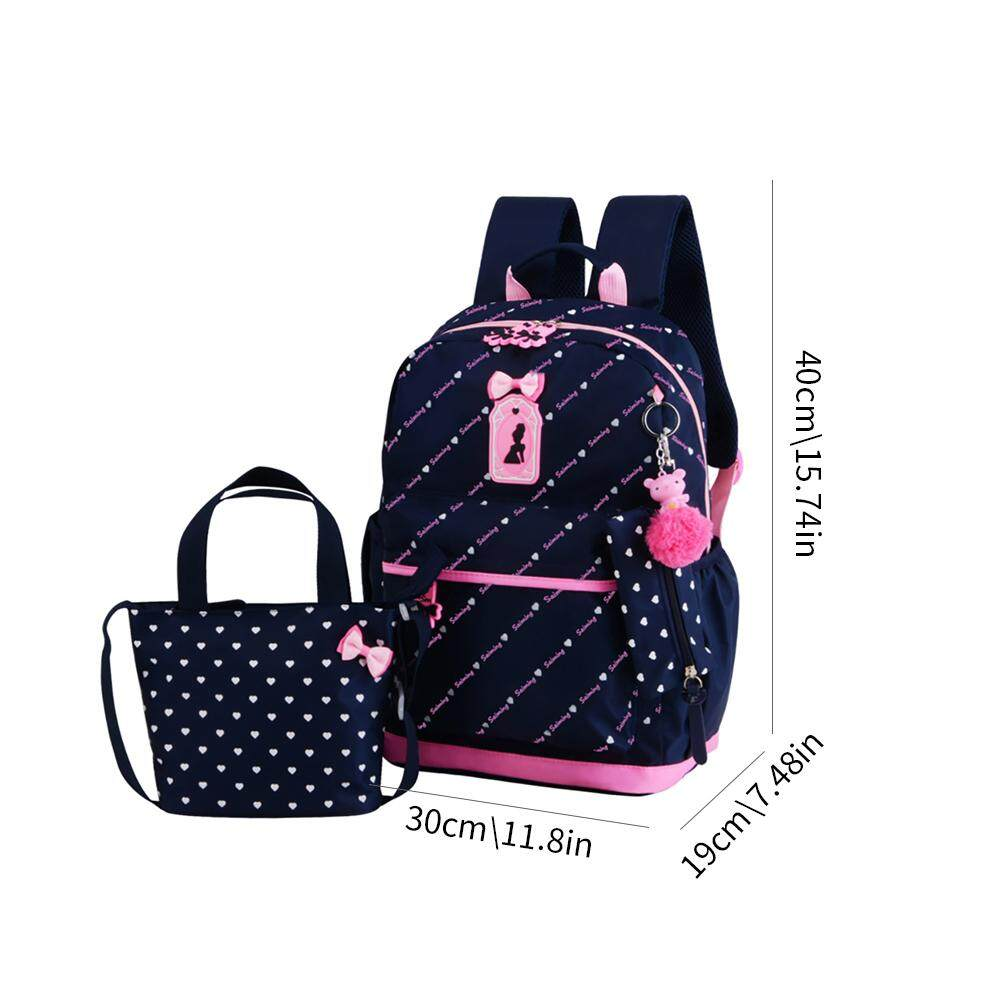HLDB ICE New Style Princess Type Backpack Casual All-Match Preppy Style Bag Middle School Student Bag For Girls