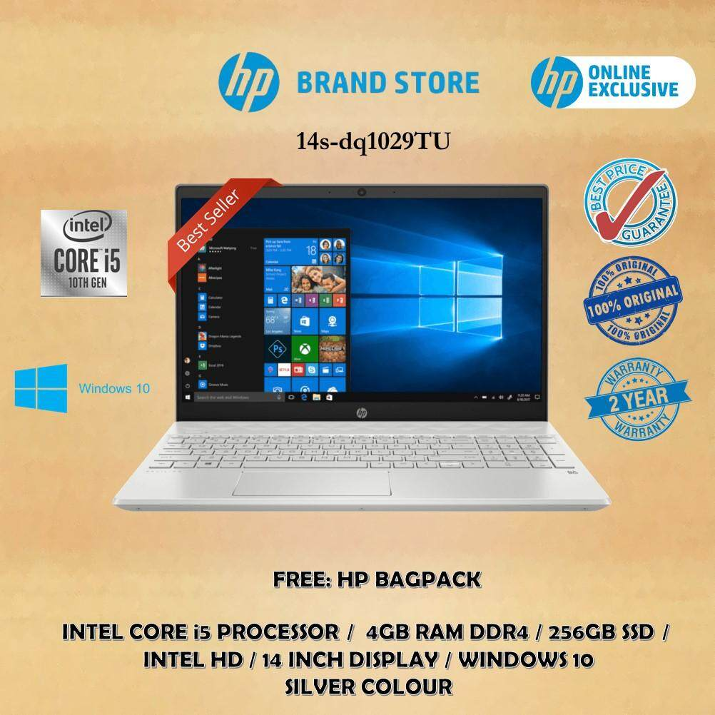 HP Laptop 14s-dq1029TU (i5, 4GB, 256GB, Silver) online exclusive Malaysia