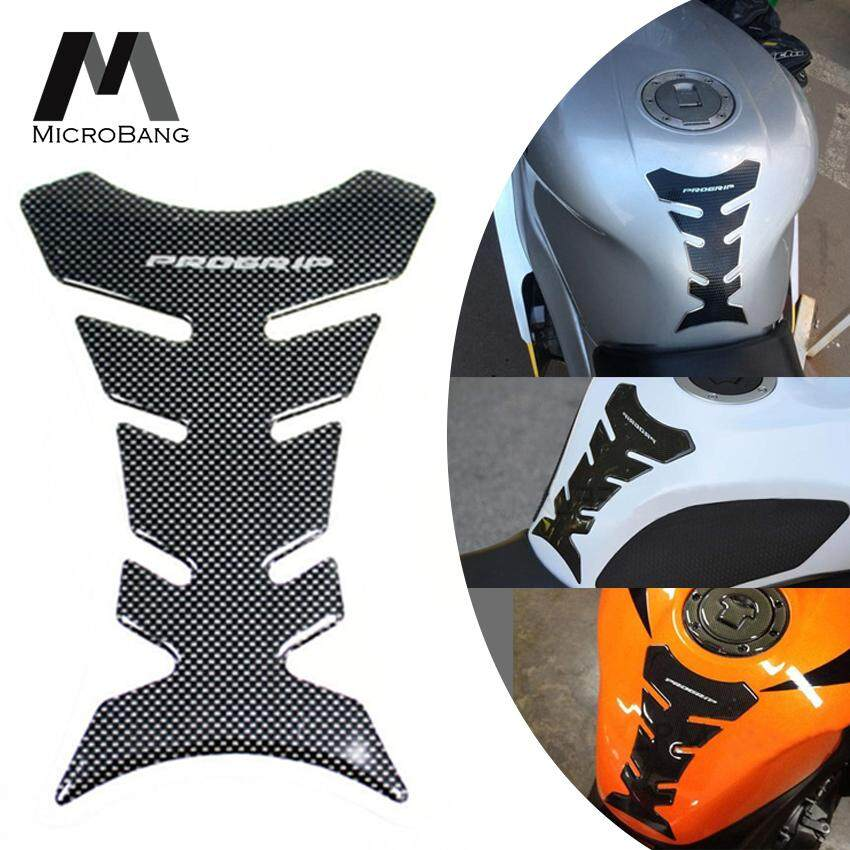 Microbang 3d Motorcycle Tank Gas Sticker Carbon Fiber Fish Bone Sticker Decal Oil Fuel Pad Protector Racing Car Stickers.