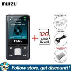 FAAEAL Original RUIZU X55 Clip Sport Bluetooth MP3 Player 8GB Mini with Screen Support TF Card,FM,Recording,E-Book,Clock,Pedometer Music Player