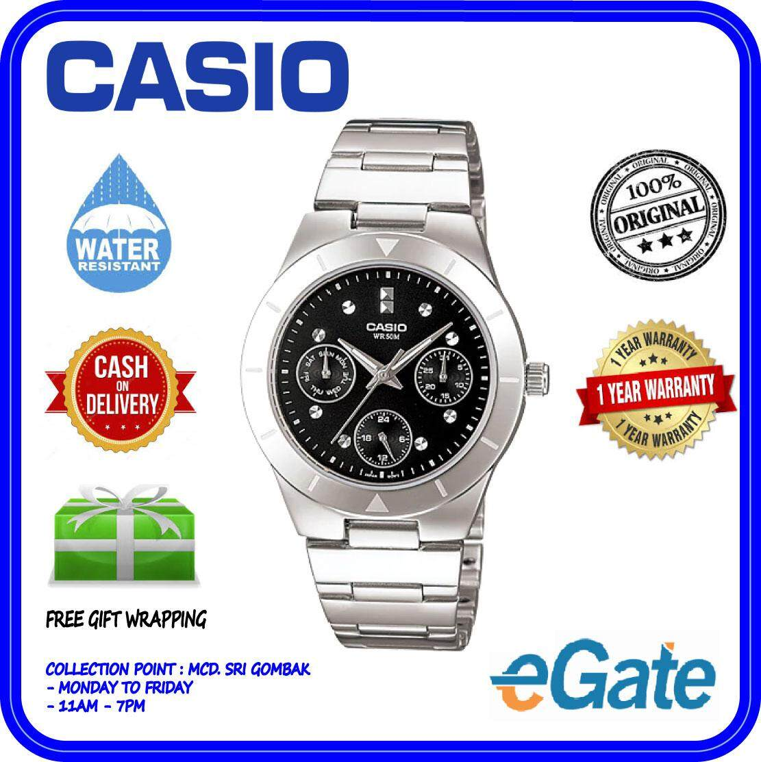 ( 2 YEARS WARRANTY ) Casio LTP-2083D-1AV Analog Women Classic Black Dial Stainless Steel Strap Original Watch (LTP-2083D) Malaysia