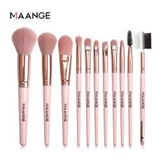 Bộ 11 cọ trang điểm chuyên nghiệp MAANGE lông mềm màu hồng phù hợp cho mọi nhu cầu làm đẹp của bạn nữ – intl