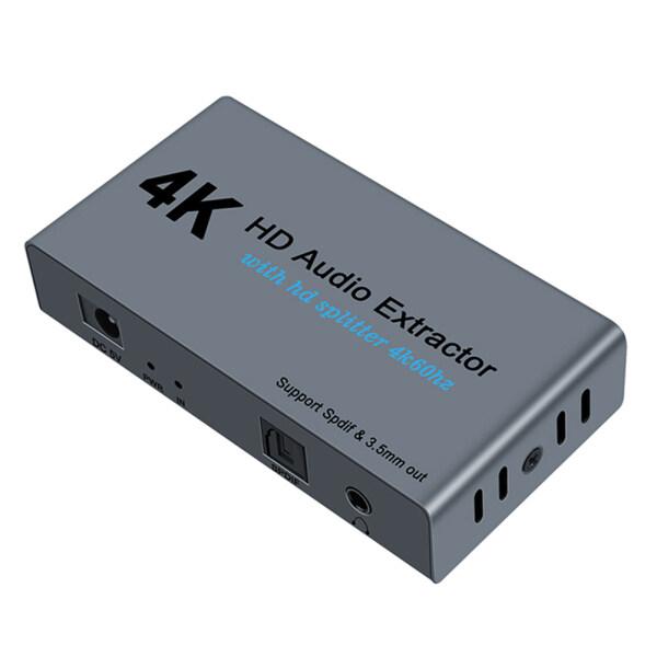 E12 HDMI to 2 HDMI + SPDIF +3.5mm Audio Extractor Converter Adapter 1.4 Splitter Audio Accessories Singapore