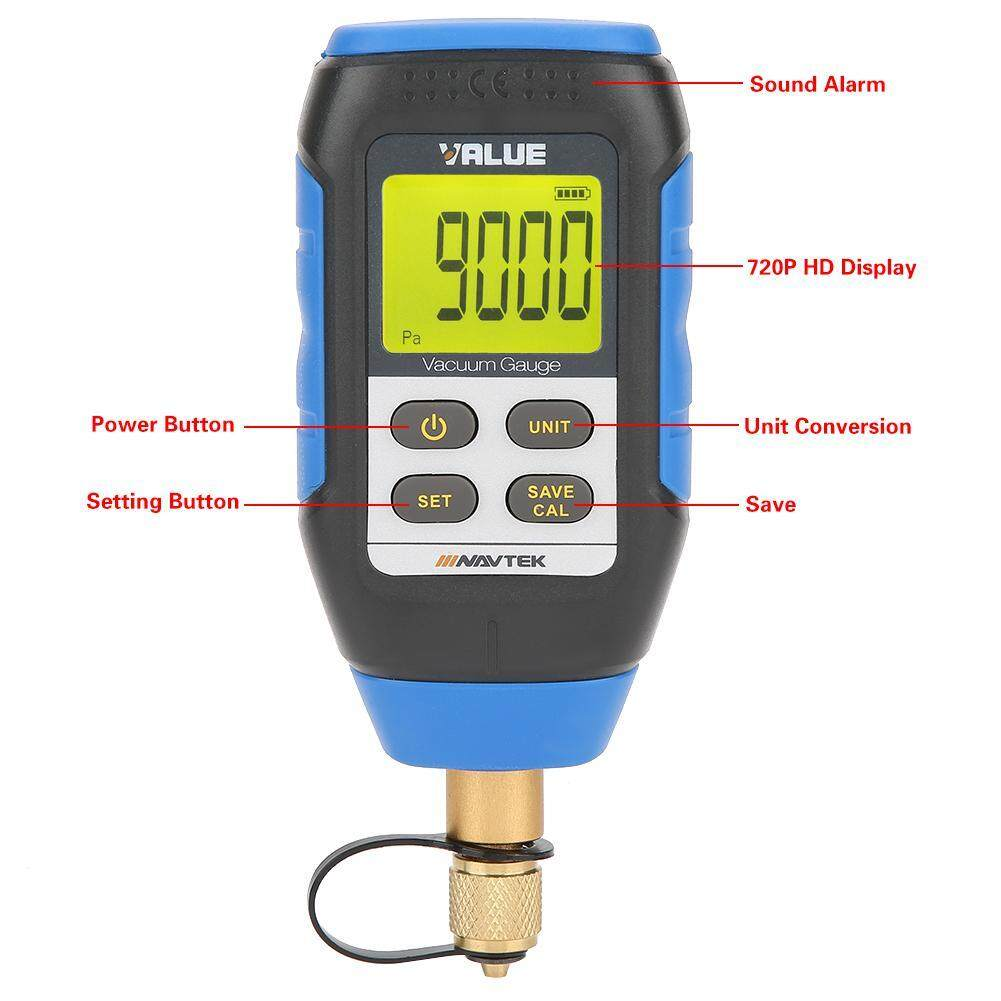 【Time-limited Promotions】VMV-1 High Precision Digital Vacuum Gauge for Atmospheric Environment 0-50°C