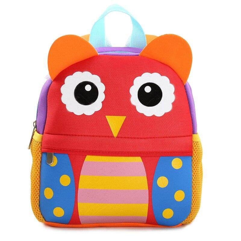ZF 2019 Popular Toddler Kids School Backpacks 3D Cartoon Animals Owl School Bags for Kindergarten Girl Boys Bag Children Schoolbag