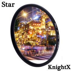 KnightX Star Line Star Filter 4 6 8 Piont Streak Hiệu Ứng Cho Canon Nikon Sony Fujifilm Dslr Ánh Sáng Màu D600 D3300 Phụ Kiện Chụp Ảnh 24-105 200d 49Mm 52Mm 55Mm 58Mm 62Mm 67Mm 72mm 77Mm