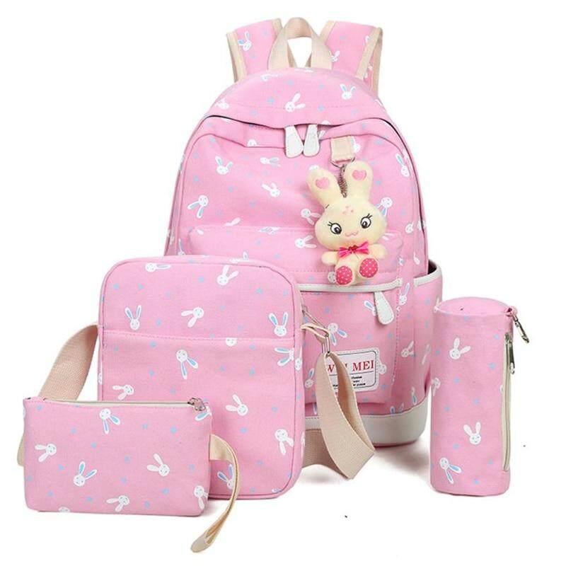 OCARDIAN mochilas para las niñas adolescentes mochila 2018 4 sets conejo animales escuela mochila de viaje hombro A0820 #30