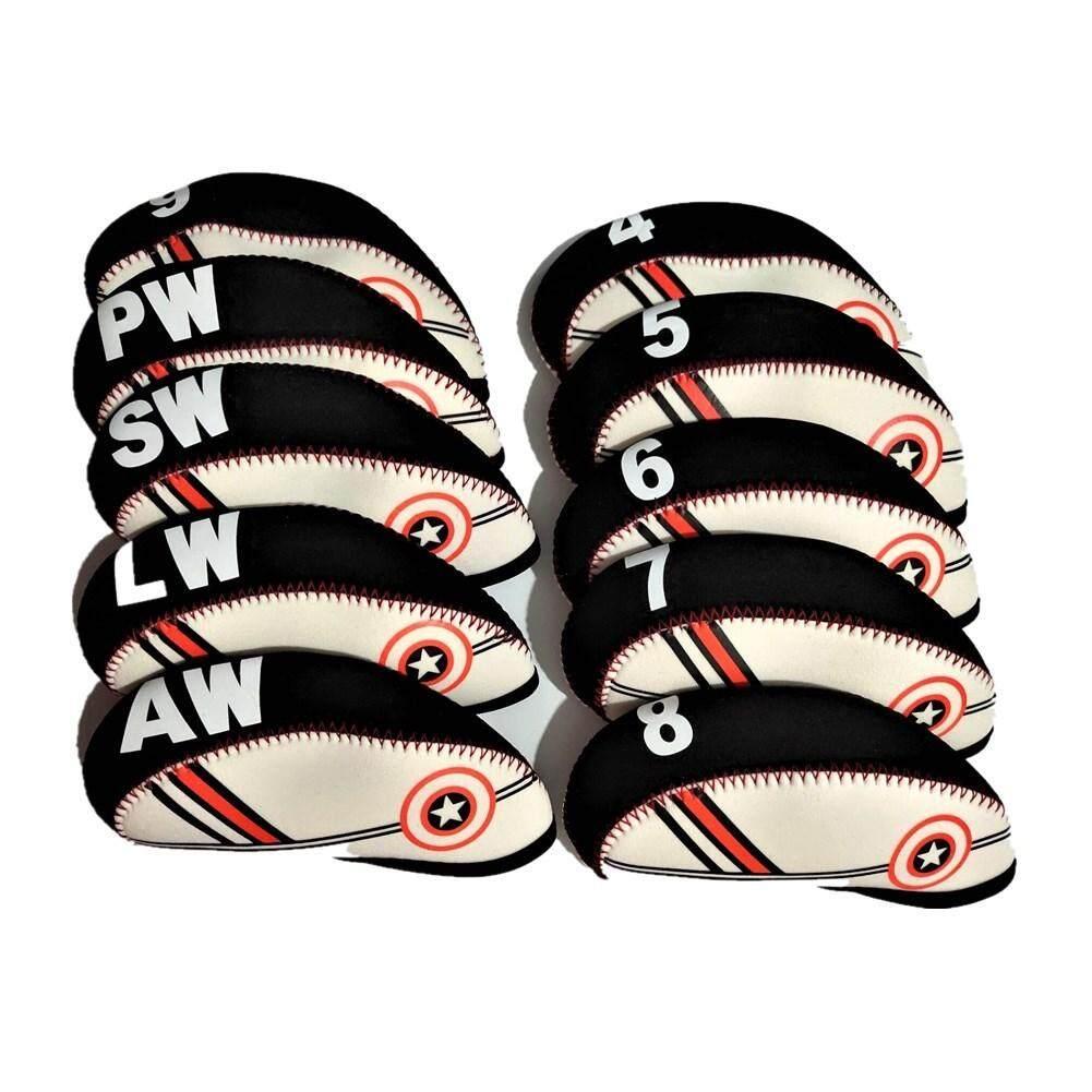 Szwl กีฬากลางแจ้ง 10 ชิ้น/เซ็ต Professional ลูกเหล็กกอล์ฟคลับปลอกหุ้มหัวไม้กอล์ฟกอล์ฟ Headcovers ป้องกัน By Szwl Trade.