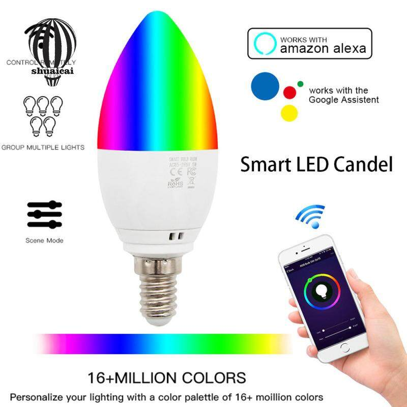 SC 6W Candle Bulb Wifi Intelligent for Decoration