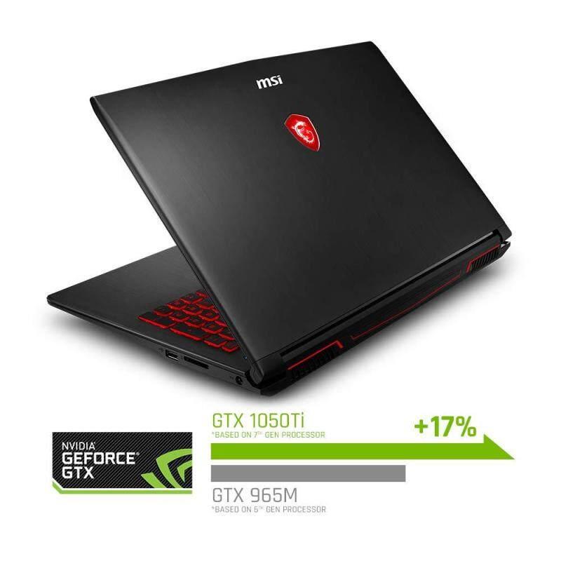 MSI GV62 8RD-276 15.6 Performance Gaming Laptop NVIDIA GTX 1050Ti 4G, Intel Core i7-8750H (6 cores), 16GB, 128GB NVMe SSD + 1TB HDD, Red Backlit KB, Win 10 Home, Aluminum Black Malaysia
