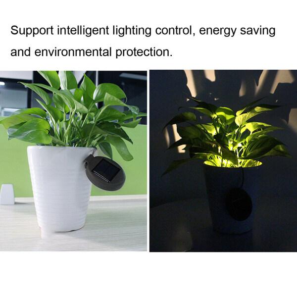[salmopho+ไฟพลังงานแสงอาทิตย์/solar light] Waterproof Solar Power Balcony Flower Pot Light for Outdoor Garden Landscape Decoration Singapore
