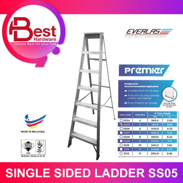 BEST HARDWARE - Everlas Premier SS05 5 teps Single Sided Ladder Tangga Lipat