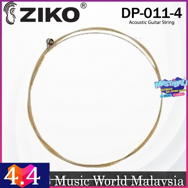 Ziko DP-011 Acoustic Guitar 4th Loose String Extra Light Special Phosphor Bronze Bright Tone Malaysia