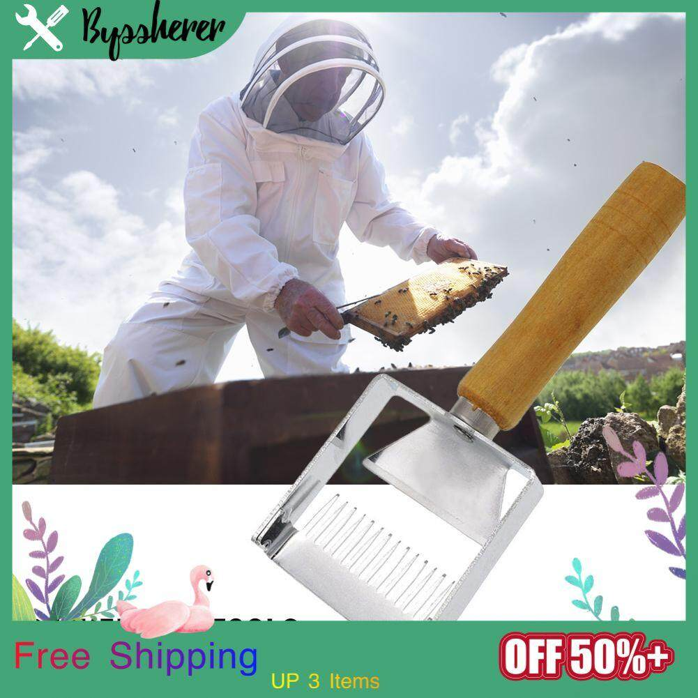 Byssherer Silver Stainless Steel Outdoor Field Sturdy Effective Sharp Fast Professional Honey Shovel