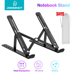 DoomHot Laptop Stands Foldable Laptops Stand Portable 10-Level Height Adjustable Holder Notebook Stand Air Flow Cooling Ergonomic Design Laptop Stands for 10 -15.6 Inch PC Computer Accessories