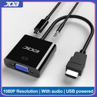 Cáp Chuyển Đổi Video JDB 1080P HDMI Male Sang VGA Female Dành Cho PC DVD PS3 Ps4, Với Cáp Âm Thanh Nguồn Điện thumbnail