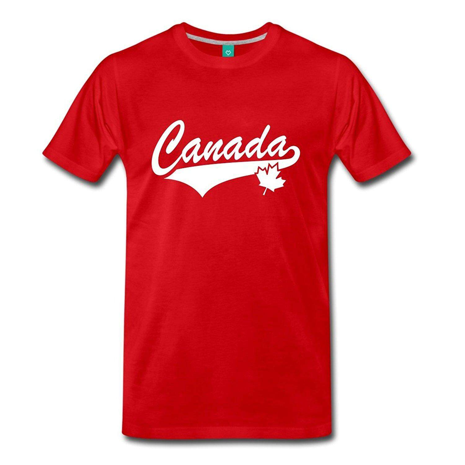 Canada Collegiate Maple Leaf Men s Premium T-Shirt Tee Shirt Homme T Shirt  Men Funny 4cfc289f5a426