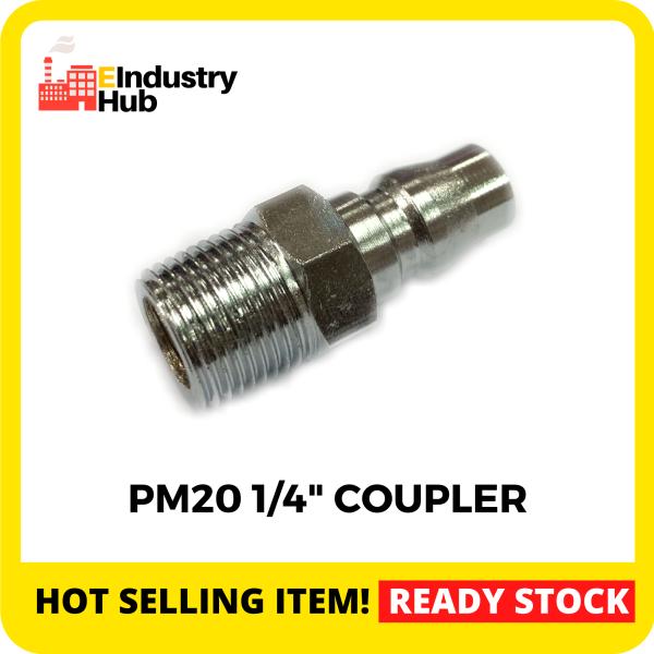 PM20 1/4 Pneumatic Air Compressor Hose Quick Coupler Plug Fitting Air Hose Compressor Connector Quick Coupler