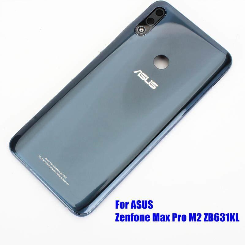 Original For ASUS Zenfone Max Pro M2 ZB631KL Rear Back Cover Battery Door Housing + Camera