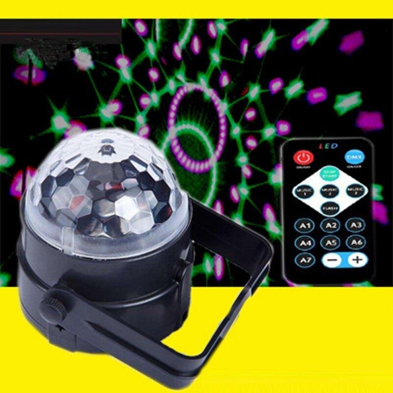 Đèn Nhấp Nháy 7 Màu RGB, Đèn LED Sân Khấu Cho Giáng Sinh, Gia Đình, KTV, Chương Trình Đám Cưới