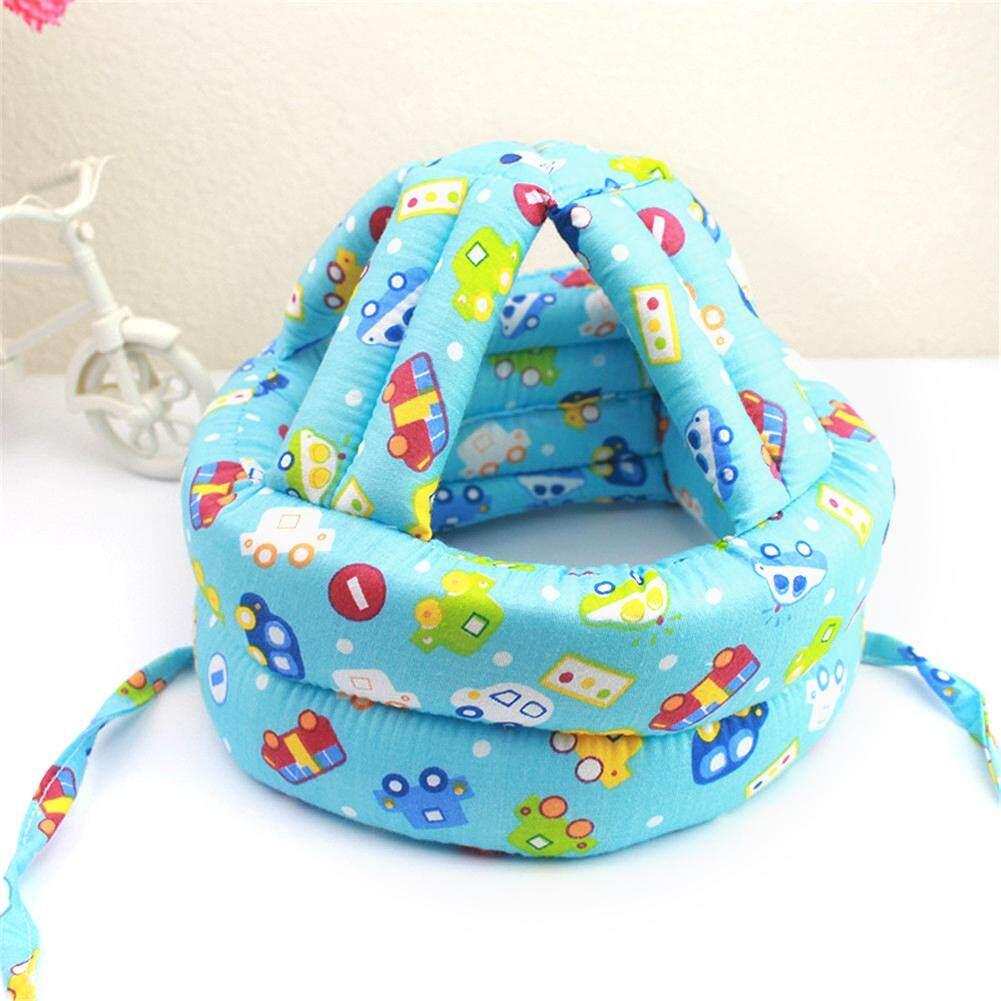 Adjustable Kartun Bayi Balita Pelindung Topi Anak Helm Keselamatan Lembut Headguard Topi untuk Mencegah Benjolan Bayi Topi Pelindung Kepala