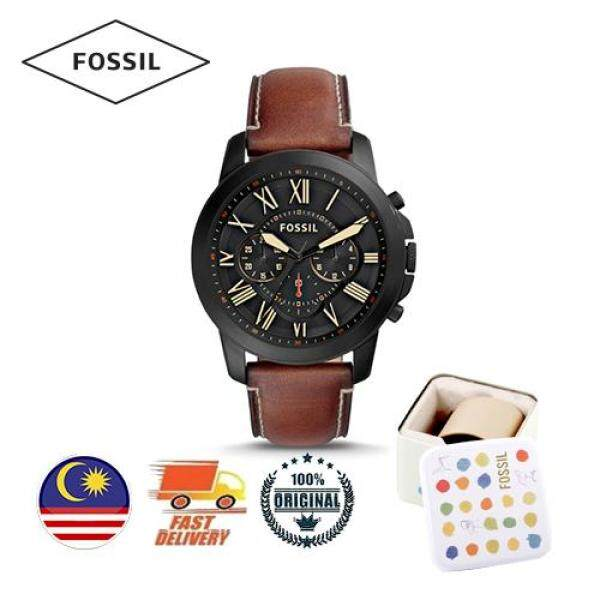 [Authentic] Fossil Grant Chronograph Luggage Leather Men Watch FS5241(2 Years Warranty) Malaysia