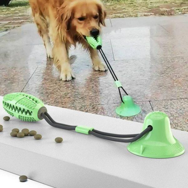 Đồ Chơi Chó Cưng Miếng Hút Đôi Cố Định Thiết Bị Kéo Đồ Chơi Nhai Chó Đẩy Bóng Pet Răng Bàn Chải Đánh Răng Chó Cho Chó Con Chó Lớn Đồ Chơi Gặm