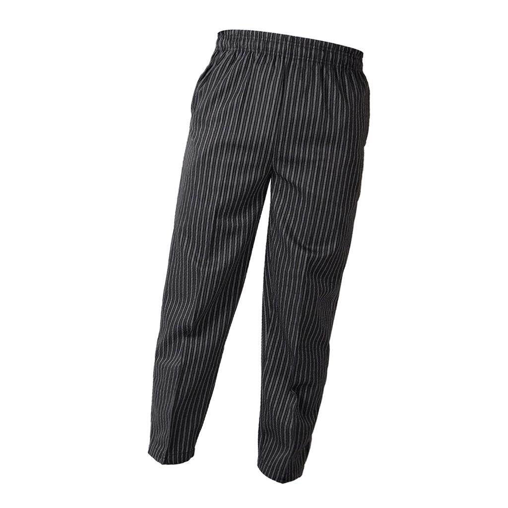 Blesiya Elastic Restaurant Cafe Chef Waiter Pants Trousers Uniform Accs