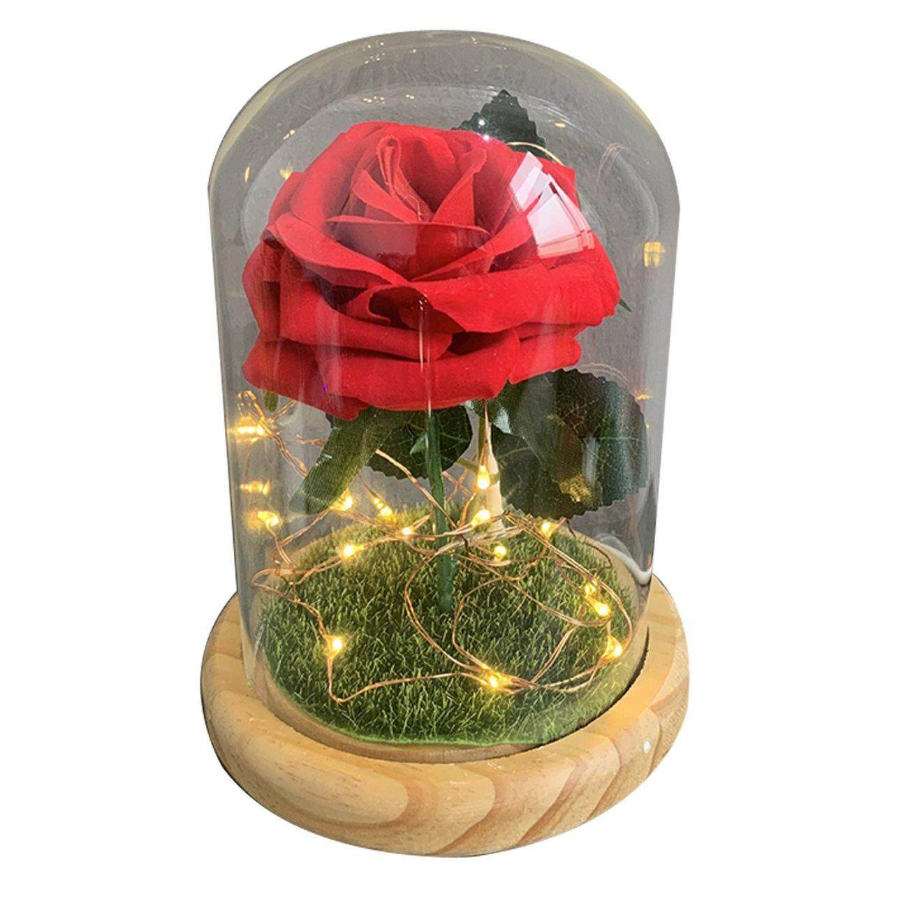 Hot Sales Led Glass Rose Night Light Home Decoration Lights Creative Lights Beautiful