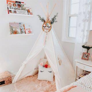 Lều Vải Lớn 180CM Cho Trẻ Em Lều Trắng Lều Chơi Trong Nhà Ngoài Trời thumbnail