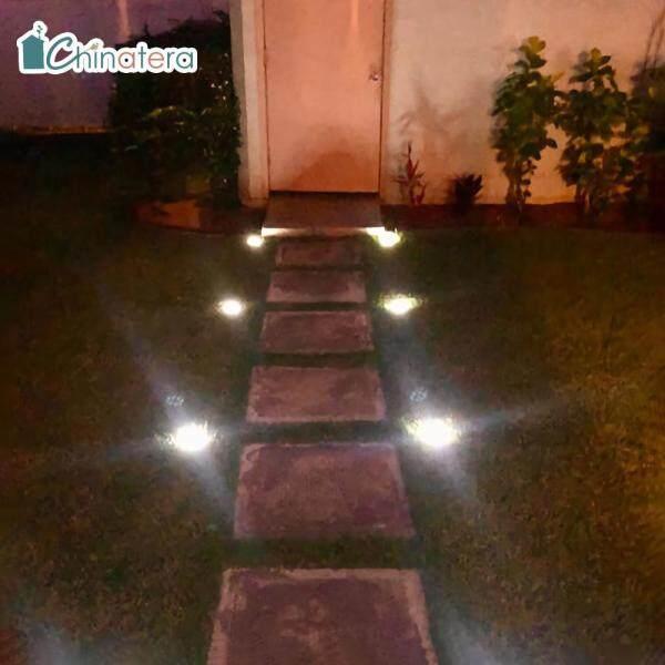 [Chinatera] Đèn LED Năng Lượng Mặt Trời 1 PC Đèn Âm Đất Ngoài Trời Cảnh Quan Không Thấm Nước Đèn Chìm