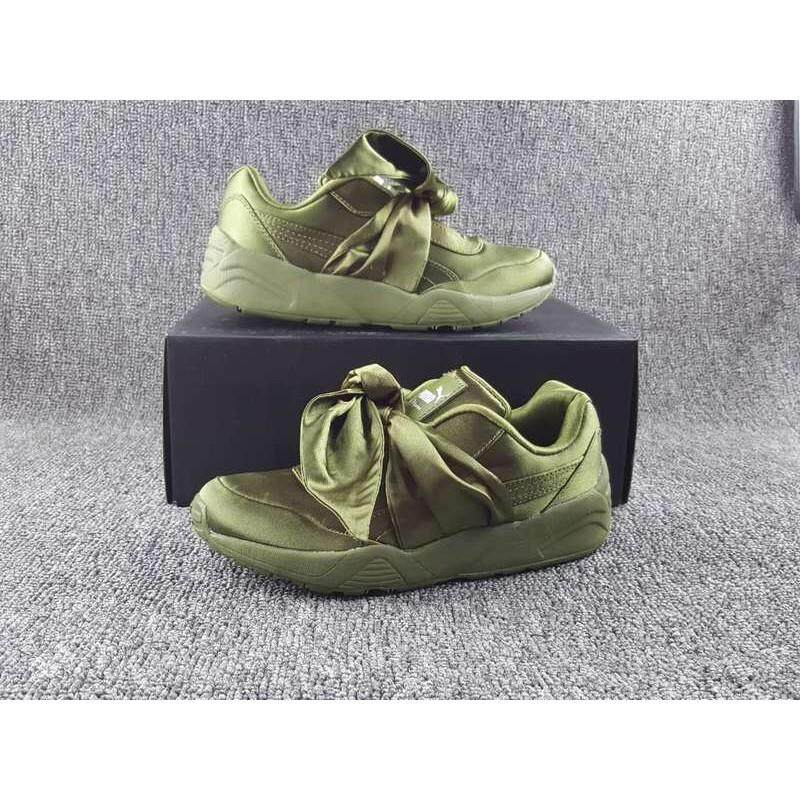d1b67ec7eebf Fashion 2018 Rihanna x Puma Fenty Bow Running Shoes Women Sneakers Green