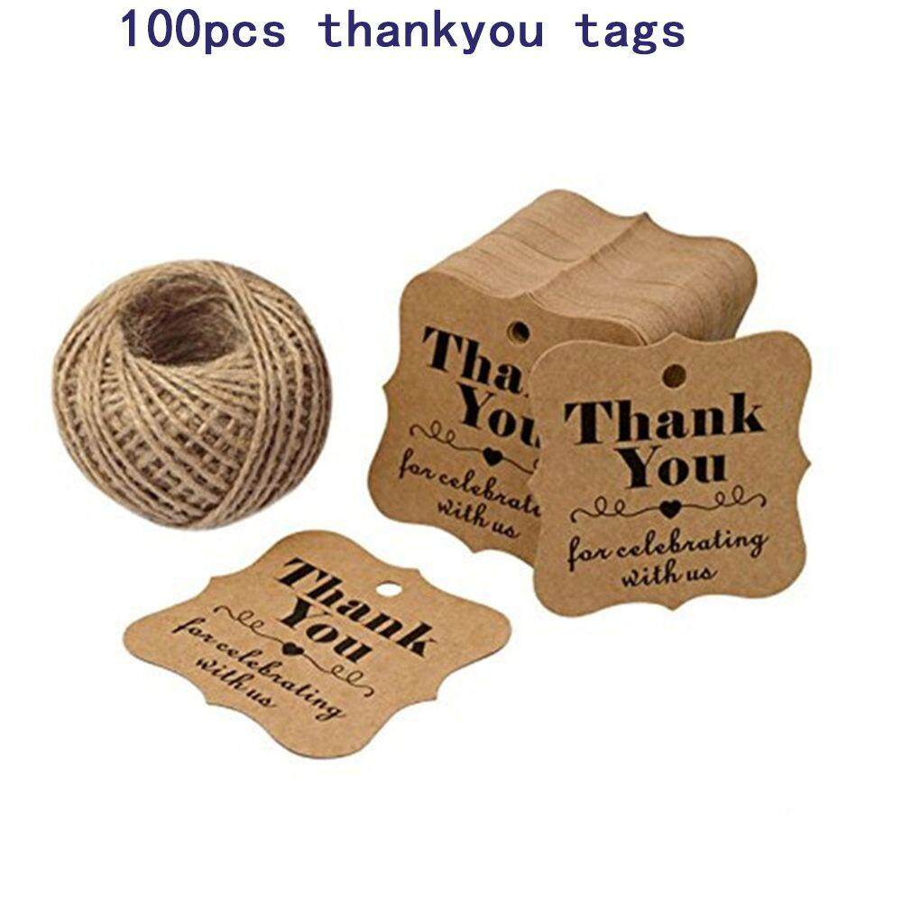1* Thank You for Celebrating with U Stationery Packaging Hang Wedding Decoration 100pcs/lot for Celebrating Paper Tags