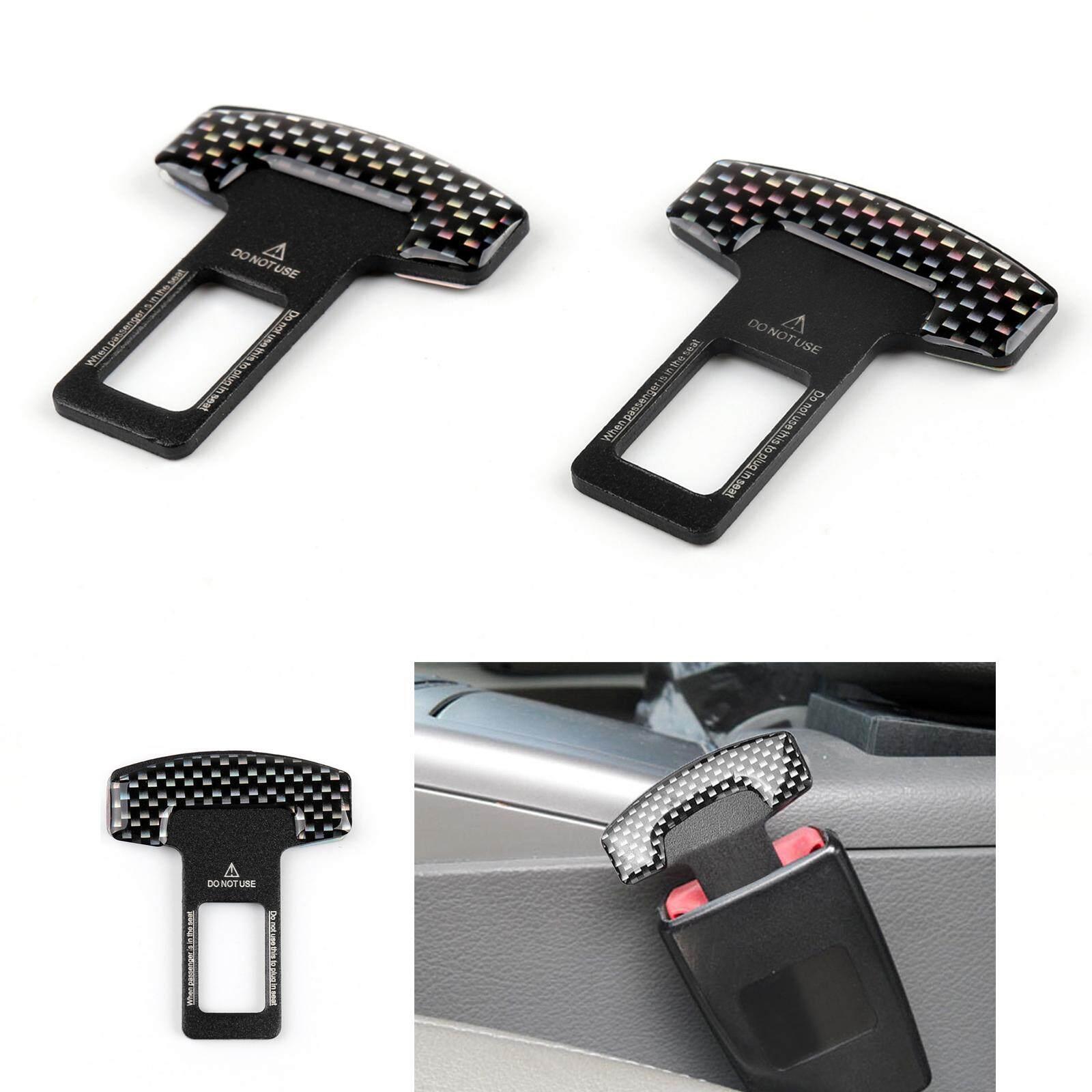 2 x Auto Seat Belt Safe Buckle Plug Clasp Clip Alarm Stopper Accessories Black
