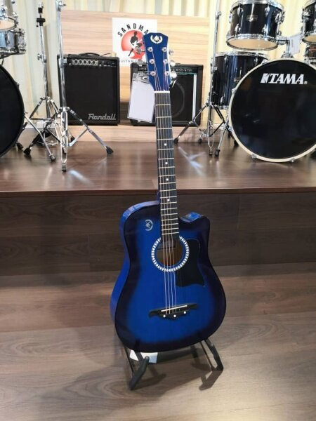 A&K 010C 38 Acoustic Guitar, Blue (Free Gift: Gig Bag) Malaysia