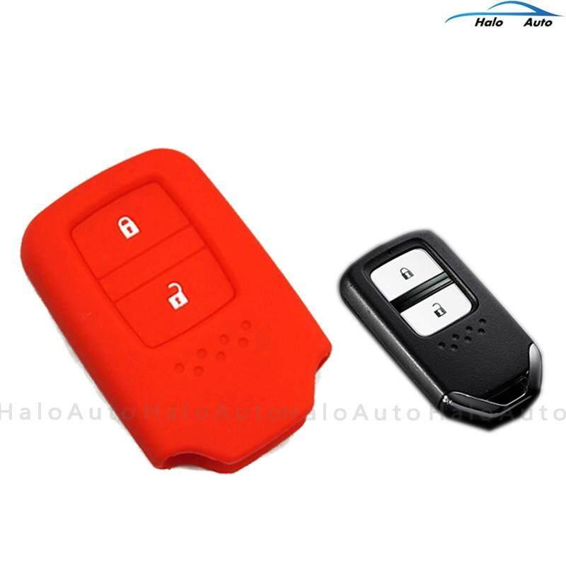 Honda Hrv Jazz Crv Brv 2014-2018 Keyless Remote Silicone Car Key Cover Case-Red By Super-Market.