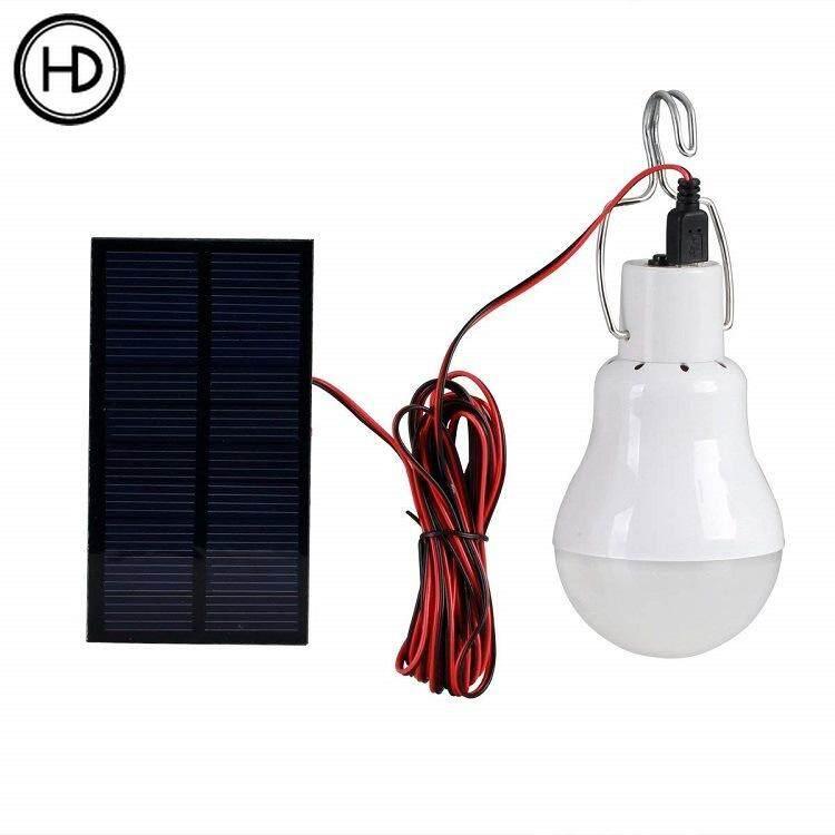 HEDA Solar LED outdoor work light Camping tent lighting bulb Household portable charging lamp